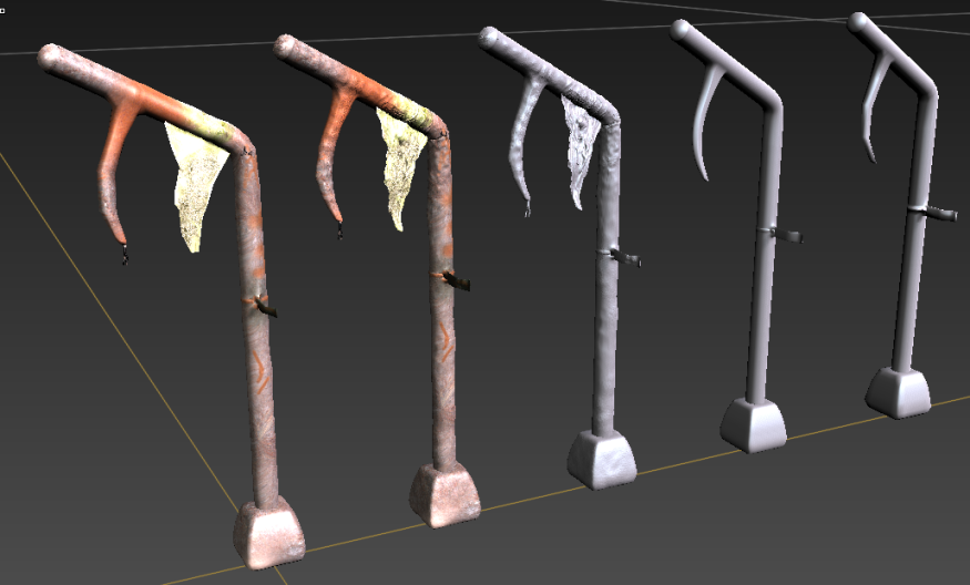 Level of detail Gameready to low poly
